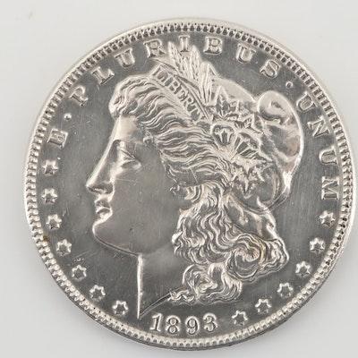 Rare 1893 Silver Morgan Dollar