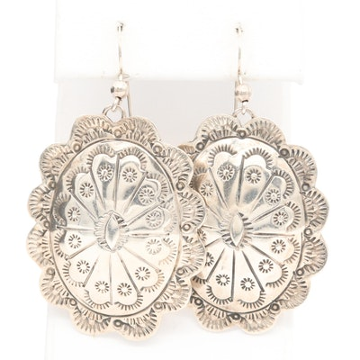 Southwestern Style Sterling Silver Dangle Earrings