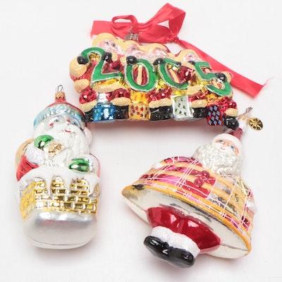 Christopher Radko Christmas Ornaments, Three