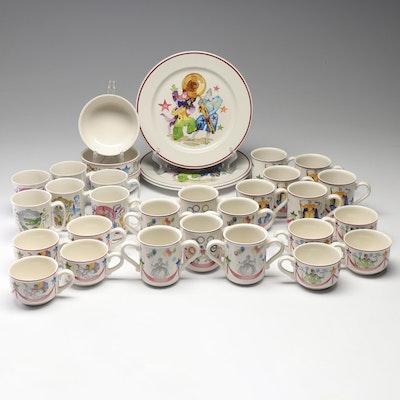 "Villeroy & Boch ""Le Cirque"" and ""Le Ballon"" Porcelain Mugs and Dishes"