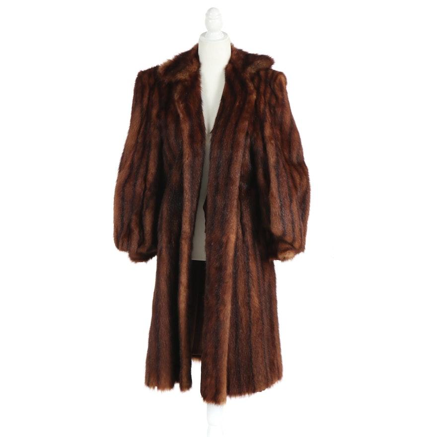 Famous-Barr Co. Marmot Fur Coat, 1940s Vintage
