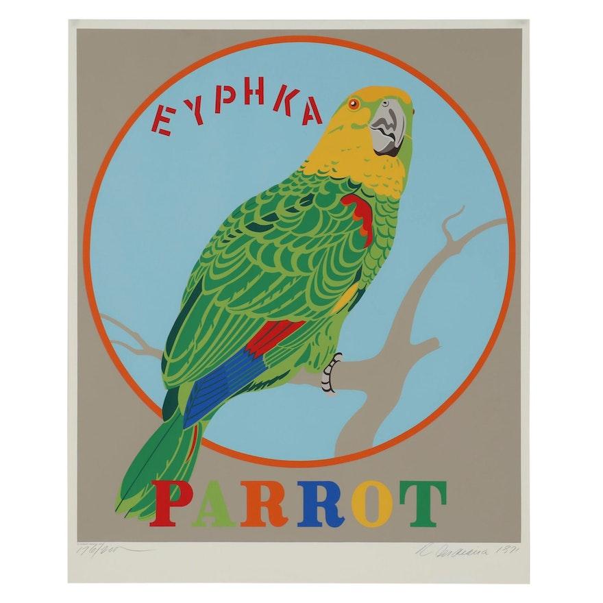 "Robert Indiana Serigraph ""Parrot Eyphka (Eureka)"""