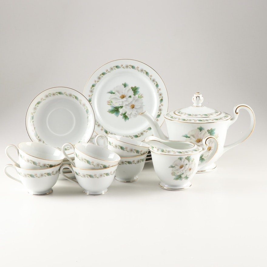 Noritake China Tea Service, Mid 20th Century