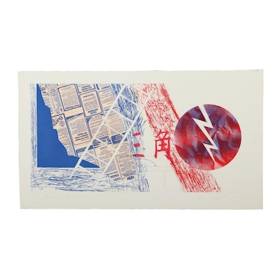 """James Rosenquist Etching with Aquatint """"Wind and Lightning"""""""