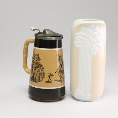 West German Vase and Beer Stein