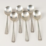 "Fine Arts Sterling Silver ""Processional"" Cream Soup Spoons"