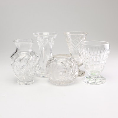 Cut Crystal Vases Including Waterford