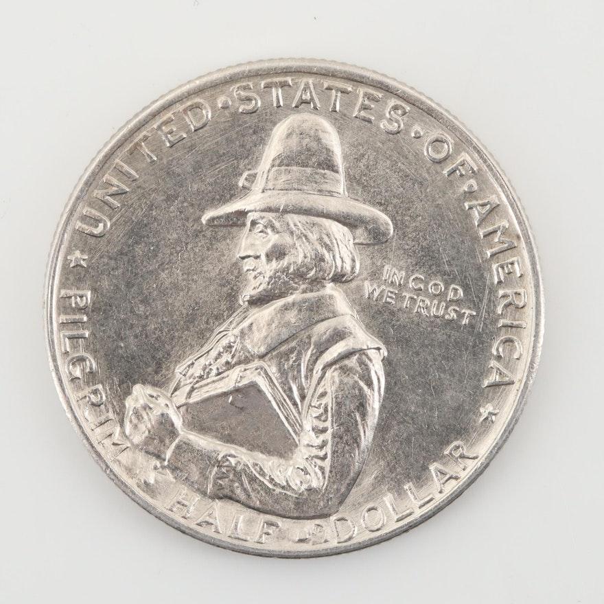 1920 Pilgrim Tercentenary Commemorative Silver Half Dollar
