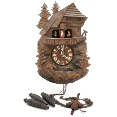 Cuendet Musical Chalet Cuckoo Clock with Swiss Movement