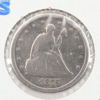 1875-S Seated Liberty Twenty Cent Coin