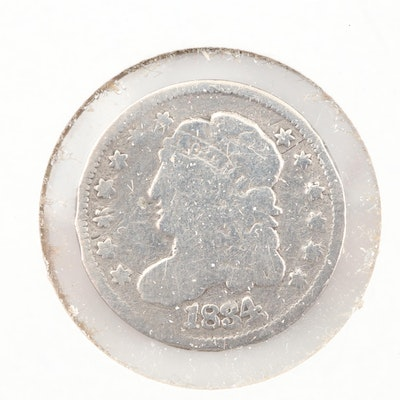 1834 Capped Bust Silver Half Dime
