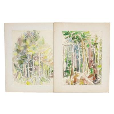 Yolanda Fusco Landscape Watercolor Paintings