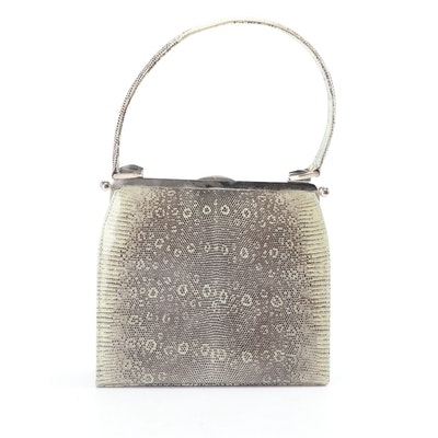 Dotti Mint Green Lizard Skin Handbag