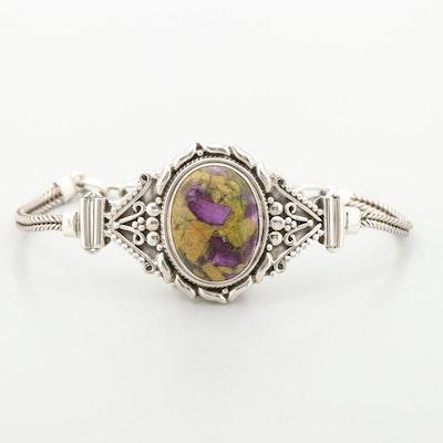Sterling Silver Atlantisite Adjustable Bracelet