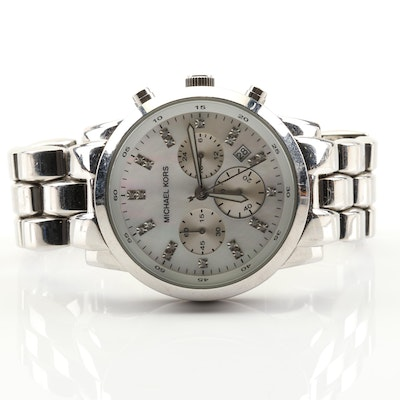 Michael Kors Stainless Steel Chronograph Wristwatch