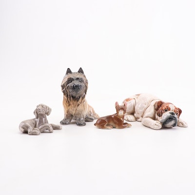 Porcelain Dog Figurine Assortment