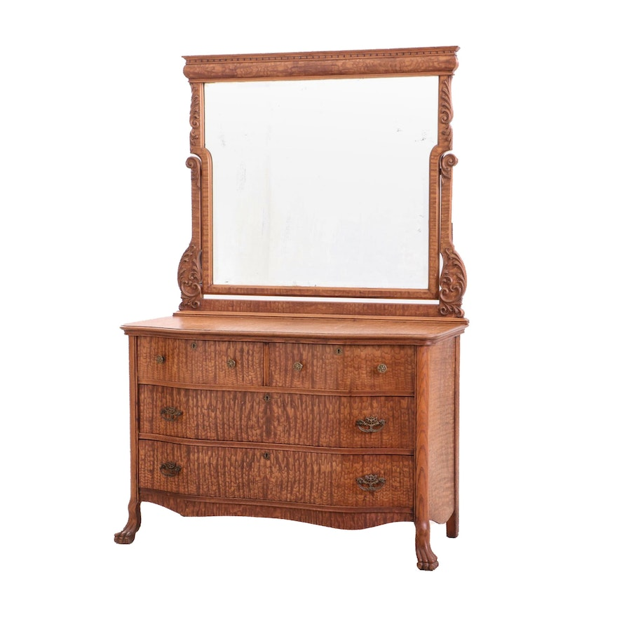Wooden Vanity Cabinet with Mirror, Early to Mid-20th Century