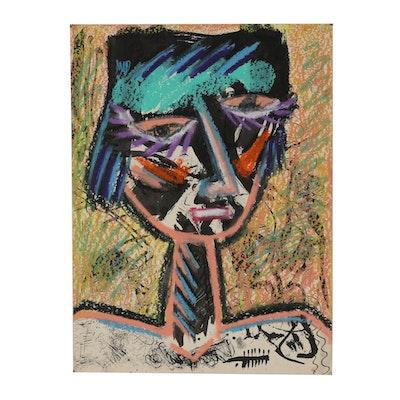 Merle Rosen 2002 Abstract Mixed Media Drawing