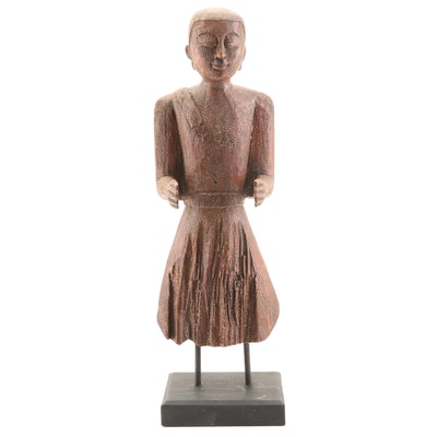 Figural Wooden Sculpture by Tozai Home