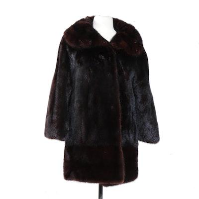 Shillito's Mahogany Mink Fur Stroller Coat