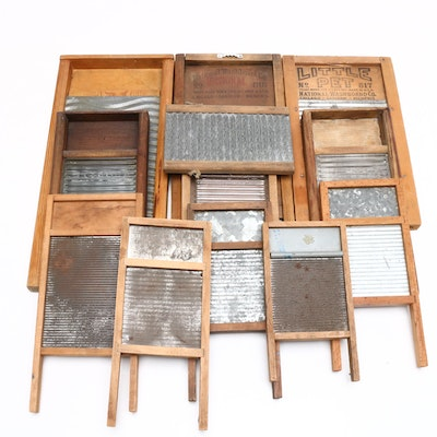 National Washboard Co. Tin, Glass and Wooden Washboards