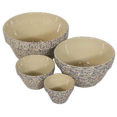 Robinson Ransbottom Nested Spongeware Mixing Bowls