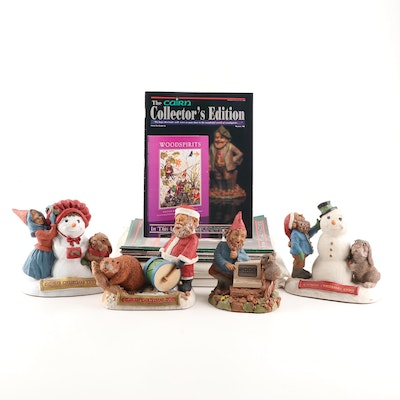Tom Clark Holiday Themed and Y2K Gnome Figurines and Collector Periodicals
