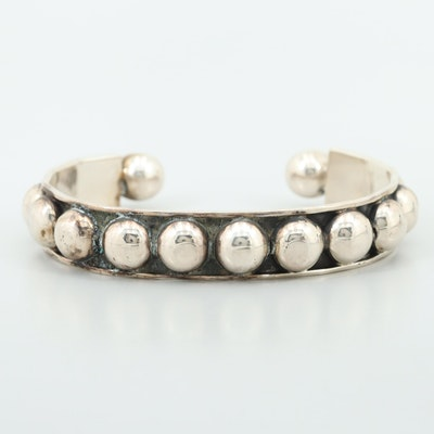 Sterling Silver Solid Cuff Bracelet
