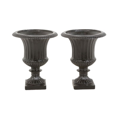 Painted Iron Garden Urn Shaped Planters