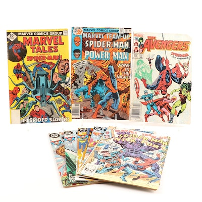 Marvel Comics Featuring Spider-Man and DC Comics Featuring Superman