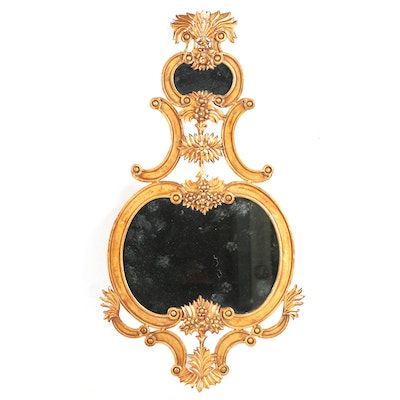 Rococo Style Copper Stained Gold Painted Mirror