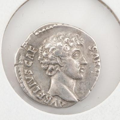 Ancient Roman Marcus Aurelius Silver Denarius 145-147 AD