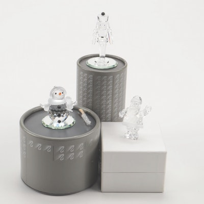 Swarovski Crystal Winter Theme Figurines