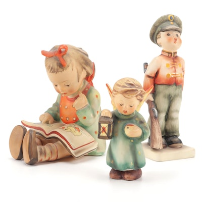 "Goebel Hummel Porcelain Figurines Including ""Bookworm"""