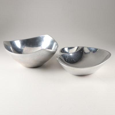 Nambé Alloy Chip n' Dip and Tri-Corner Bowls