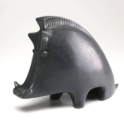 Jonathan Adler Ceramic Wild Boar Figurine, Contemporary