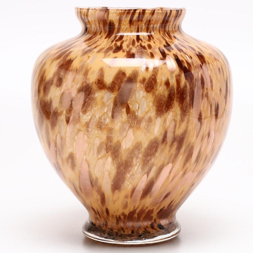 Italian Hand Blown Maestri Vetrai Art Glass Vase