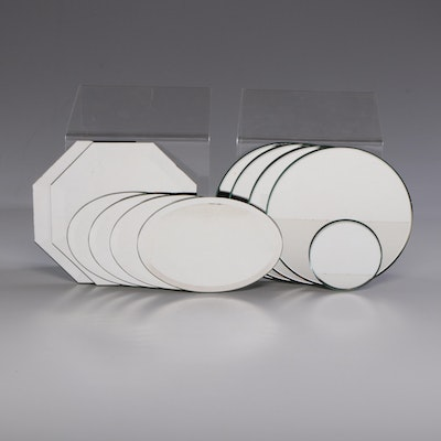 Mirrored Round, Oval and Octagonal Chargers, Contemporary