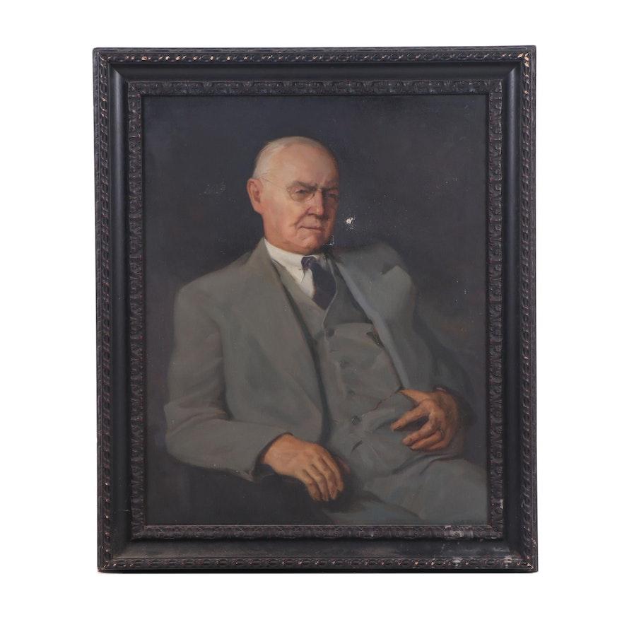 W. A. Millet Gentleman Portrait Oil Painting