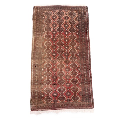 Hand-Knotted Persian Baluch Wool Rug