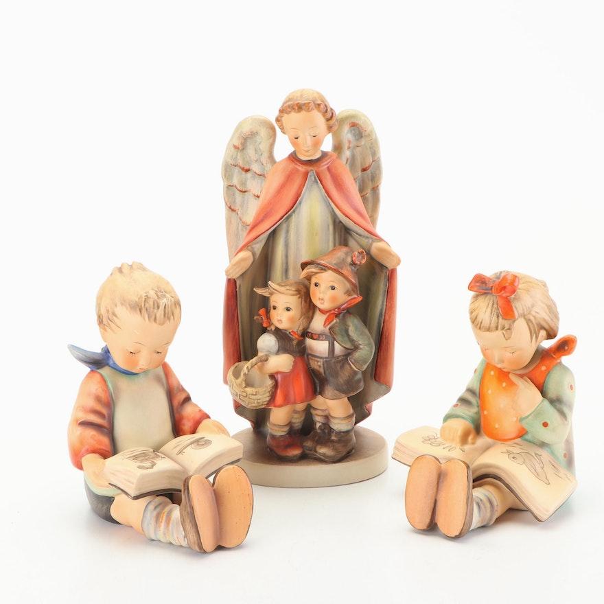 """Goebel Hummel Porcelain Figurines Including """"Bookworm"""""""