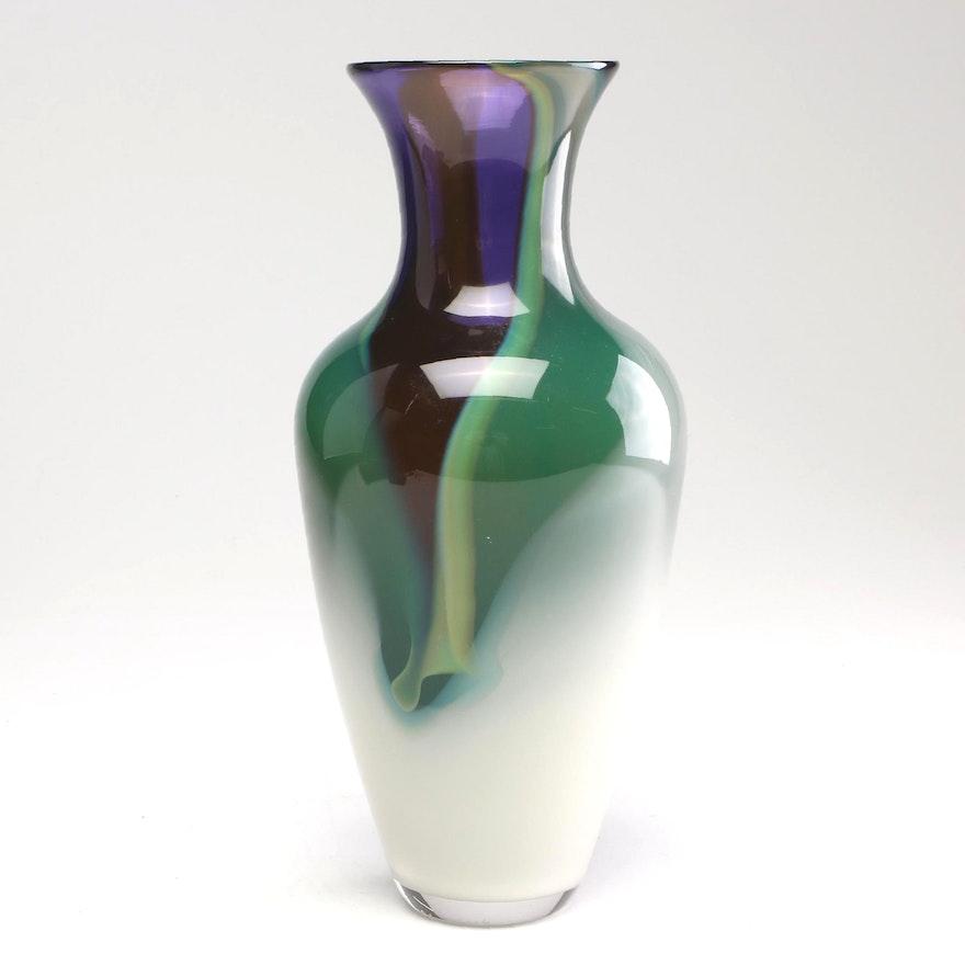 Grapevine Glass Studio Art Glass Vase, 2006