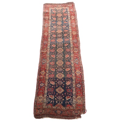 Hand-Knotted Caucasian Karabagh Wool Carpet Runner