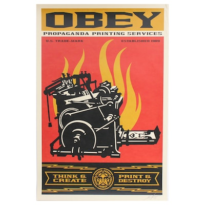 "Shepard Fairey Offset Print ""Print and Destroy"""