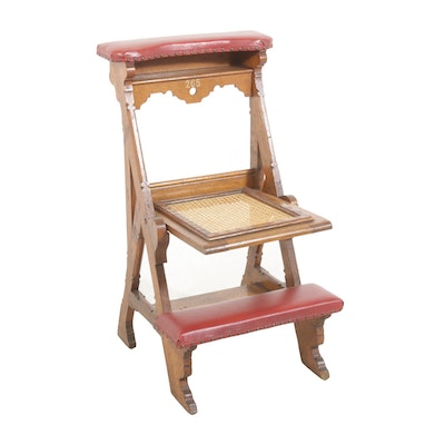 Convertible Prayer Kneeler, Antique