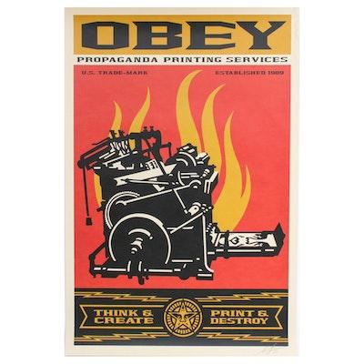 "Shepard Fairey Offset Print ""Print and Destroy"""