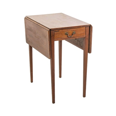 Mahogany Drop-Leaf Side Table, Early to Mid 20th Century