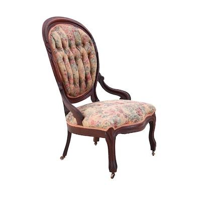 Victorian Mahogany Parlor Chair