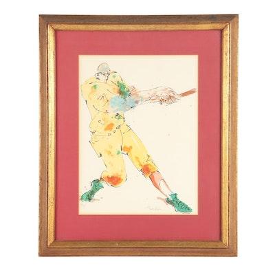 Ted Tanabe Baseball Serigraph