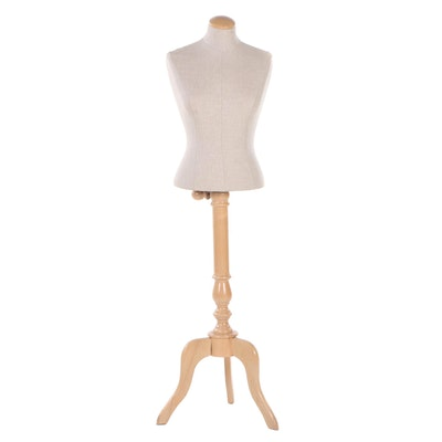Dress Form with Wooden Tripod Base